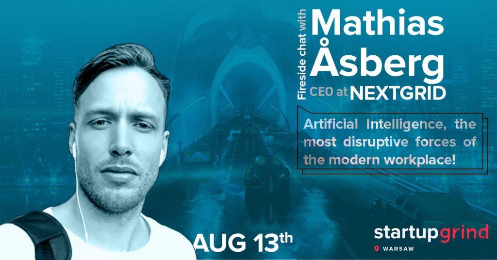 Mathias Åsberg Startupgrind interview artificial intelligence