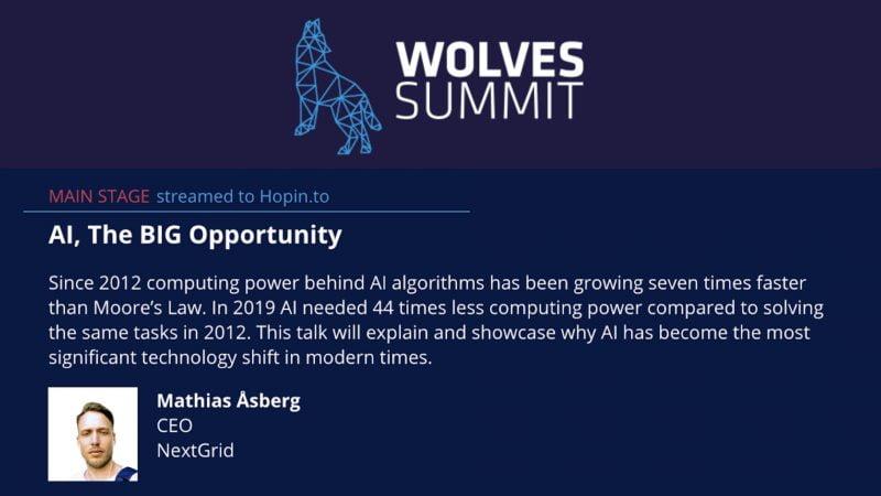 Mathias Asberg Wolf summit Artificial intelligence