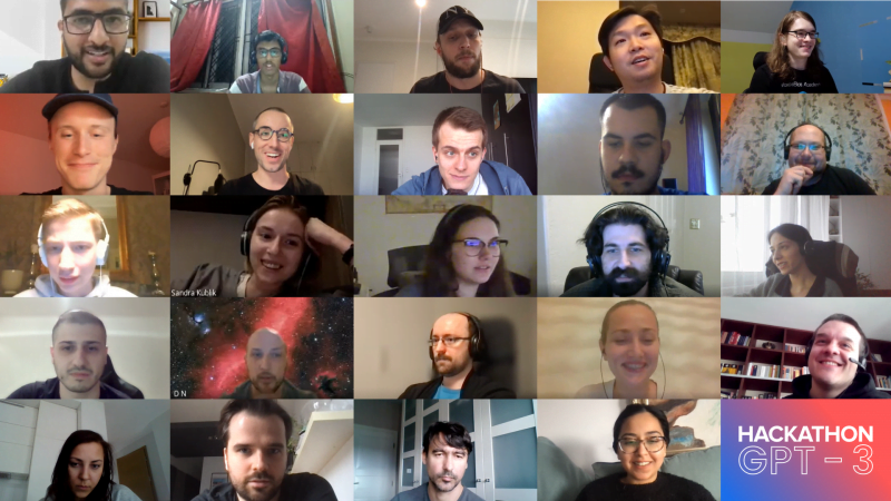 GPT-3 Deep Learning Labs Hackathon, participants